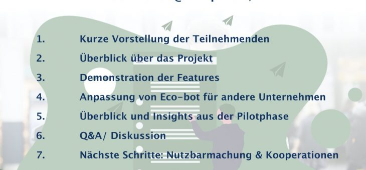 Eco-Bot project German Stakeholder Webinar